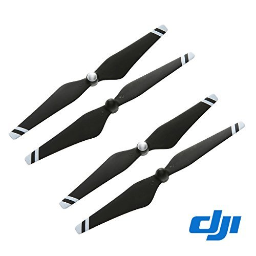 2 Pairs Genuine 9450 Props Carbon Fiber Reinforced Self-tightening Propellers (Composite Hub, Black with White Stripes) For DJI Phantom 3 Professional, Advanced, Phantom 2 series, Flame Wheel...