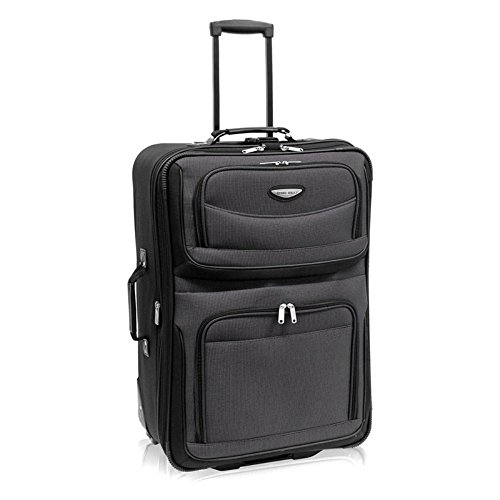 "Travel Select Amsterdam 25"" Expandable Rolling Upright in Gray"