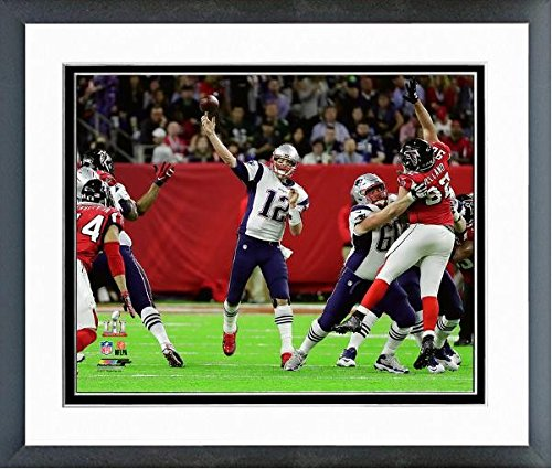 "Tom Brady New England Patriots Super Bowl LI Action Photo (Size: 26.5"" x 30.5"") Framed"