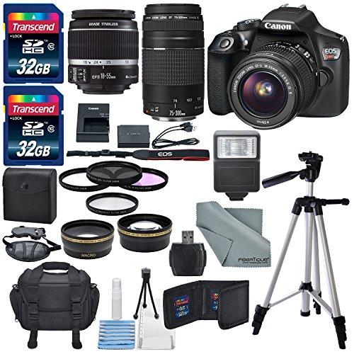 Setantagear Com Photo Savings Canon Eos Rebel T6 Dslr Camera With Ef S 18 55mm F 3 5 5 6 Is Ii Lens Ef 75 300mm F 4 5 6 Iii Lens And Deluxe Accessory Bundle