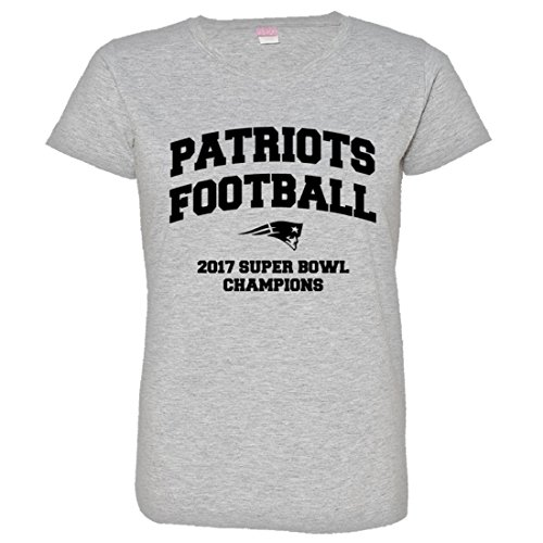 Womens New England Patriots Super Bowl Champs Soft HQ Fashion Tee - Heather