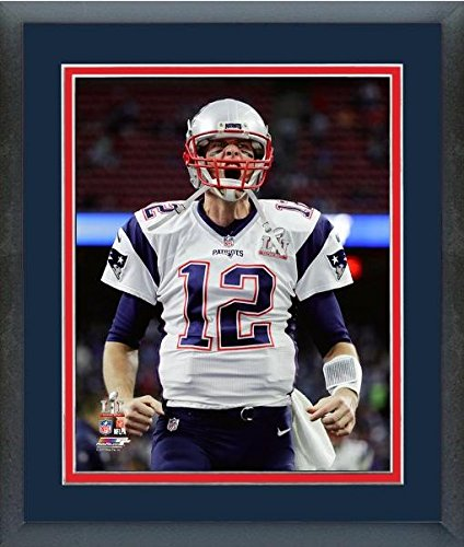 "Tom Brady New England Patriots Super Bowl LI Action Photo (Size: 26.5"" x 30.5"") Framed"