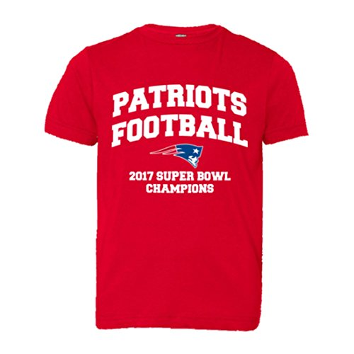 Youth New England Patriots Super Bowl Champs Soft HQ Tee - Red