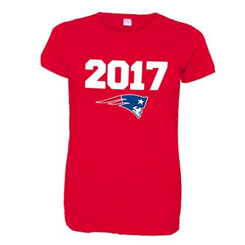 Womens 2017 New England Patriots Champions Soft HQ Fashion Tee - Red